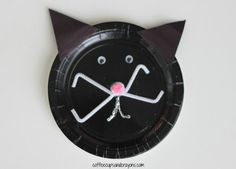 Black Cat Paper Plate Kids Craft
