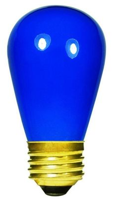 Pack of 20 Opaque Blue E26 Base Replacement S14 Light Bulbs - 11 Watts