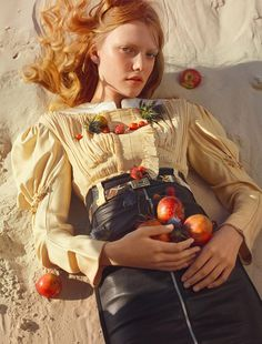 Roos Abels by Txema Yeste for Numero January 2017 | The Fashionography