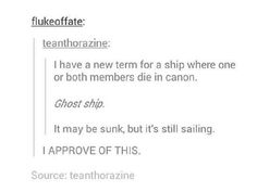 Sold! Ghost ship it is!
