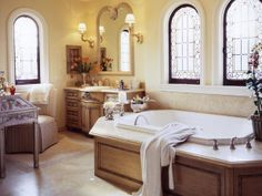 MASTER BATH WITH OLD WORLD CHARM AND STYLE