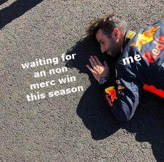 "trashmoose: ""a meme to celebrate the start of a new race week "" Ricciardo F1, Daniel Ricciardo, Alain Prost, Jackie Stewart, Grand Prix, Gp F1, Champions Of The World, Thing 1, F1 Drivers"