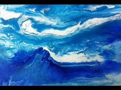 Fluid Abstract Painting Demo Waves, Malen mit Acrylfarben für Anfänger, Abstract Acrylic Painting - YouTube