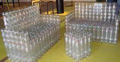 Um artesanato com reciclagem muitoecológico:Como fazer uma poltrona com garrafas Pets passo a passo. Como
