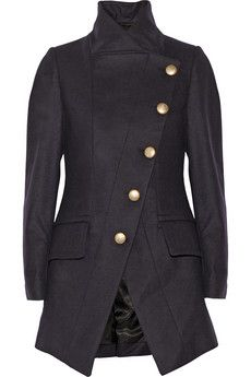 18197eb50f Vivienne Westwood Anglomania - State asymmetric wool-blend coat