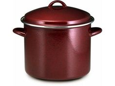 Paula Deen Signature Enamel on Steel 12-Quart Covered Stockpot, Red - 51654 >>> Want additional info? Click on the image.