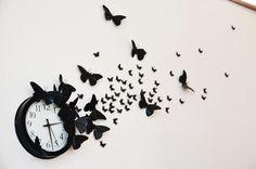 "Mr. Kate   DIY ""time flies"" butterfly clock"