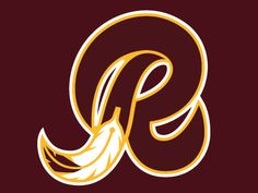 redskins logos pics | Dribbble - Redskins R Logo Concept by Andrew Sterlachini