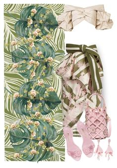 """Tropical Pink Paradise"" by onesweetthing ❤ liked on Polyvore featuring Oriental Weavers, Johanna Ortiz, Oscar de la Renta, tropical, oscardelarenta, zaful, johannaortiz and sylviawebster"