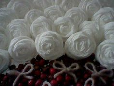 A Spoonful of Crafts: Decorating with toilet paper roses / Decoration - Toilet Paper Roses