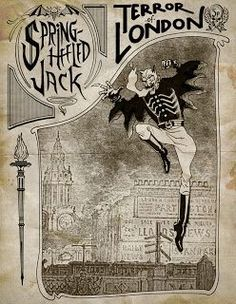 Liked on Pinterest: In the early 19th century there were reports of ghosts that stalked the streets of London. These human-like figures were described as pale and stalked and preyed on lone pedestrians. The stories told of these figures formed part of a distinct ghost tradition in London which some writers have argued formed the foundation of the later legend of Spring-heeled Jack. Spring-Heeled Jack the terror of Victorian London  #history #places #london #victoriana #victorian