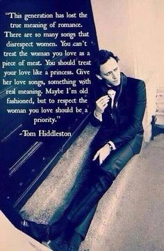 Tom Hiddleston. This is why women love him.