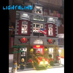 Lightaling LED Light Kit Compatible with Famous Brand 10197 Building Blocks Bricks Fire Brigade Toys USB Charge