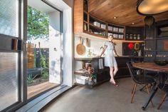 Curved Cuisine - How One Couple Turned A Grain Silo Into A Home - Photos