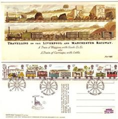 LIVERPOOL & MANCHESTER RAILWAY FDC Vintage Postcard2 GB 1980, Gift,