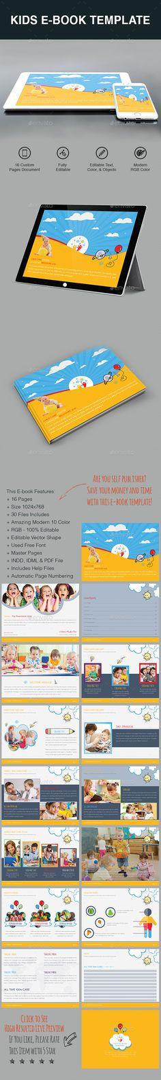 Kids E-Book Template InDesign INDD - Download: https://graphicriver.net/item/kids-ebook/21735694?ref=ksioks
