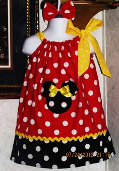 Custom handmade minnie mouse red white by nikkinmikeysboutique, $26.99