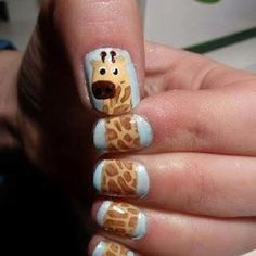Fingernails, Sure wish I had some because I love giraffes! Maybe I can get my girls to do it for me!