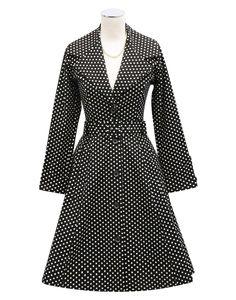 Kitten D'Amour Spot Coat - new vintage pinup rockabilly - evening wear, spotty, polka dot   Buy Recent Collections: http://www.kittendamour.com/brand_collections  Buy & Sell Old Collections: https://www.facebook.com/groups/1384135828515551/