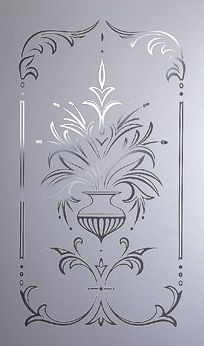 acid etched glass & sandblasted glass available from steven amin glaziers & stained glass studio Etched Glass Door, Acid Etched Glass, Etched Mirror, Sandblasted Glass, Frosted Glass Texture, Frosted Glass Design, Frosted Glass Door, Glass Partition Designs, Window Glass Design