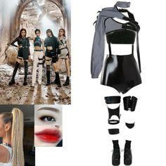 Kpop Fashion Outfits, Blackpink Fashion, Edgy Outfits, Korean Outfits, Grunge Outfits, Dance Outfits, Korean Fashion, Girl Outfits, Cute Outfits
