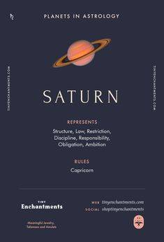 Saturn Sign in Astro