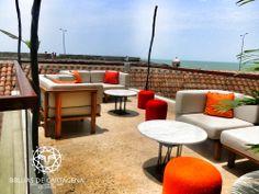 "Terraza ""El Aquelarre"" Brujas de Cartagena - Cartagena, Colombia Outdoor Furniture Sets, Outdoor Decor, Home Decor, Environment, Living Room Red, Coven, Cartagena Colombia, Bruges, Terrace"