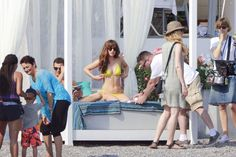 Kids on the 'Fifty Shades' set. Lots of people. Okay, okay, not as intimate as we thought.