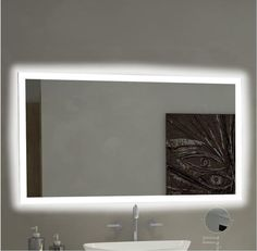 Dimmable Backlit Mirror Rectangle 85 X 40 | Pinterest | Backlit Bathroom  Mirror, Bathroom Mirrors And Backlit Mirror