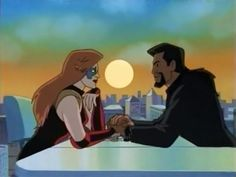 """Fox: Checkmate. / David Xanatos: Well played. / Fox: Aren't you angry? I know you don't like to lose. / David Xanatos: But I've won, my darling. For in you, I've found a true equal. Care to play again? - Gargoyles, """"Upgrade"""""""