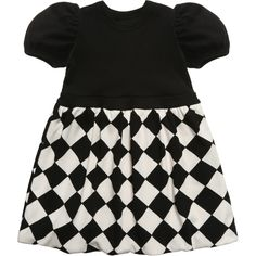 The Tiny Universe Black & White 'The Tiny Chess' Jersey Dress at Childrensalon.com