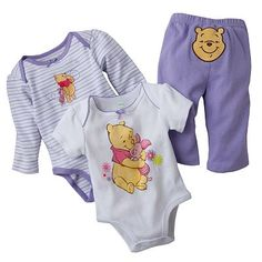 be5b276ddee9 Disney Winnie the Pooh and Friends Bodysuit Set - Baby  14.99 Disney Baby  Clothes