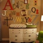 baby shower idea-have each guest bring a decorated letter for the nursery