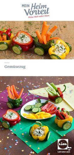 Kindergarten Snacks, Leaf Vegetable, Fruits And Veggies, Vegetables, Food Carving, Veggie Tray, Snacks Für Party, Nutrition Plans, Cute Food