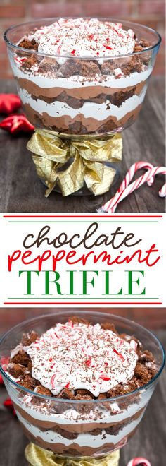 Chocolate Peppermint Trifle