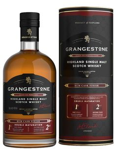 The Grangestone Highland Rum Cask Finish Single Malt Whiskey Drinks, Cigars And Whiskey, Bourbon Whiskey, Whiskey Bottle, Scotch Whisky, Fun Drinks, Alcoholic Drinks, Beverages, Cocktails
