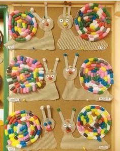 Snail craft idea for preschoolers | funnycrafts