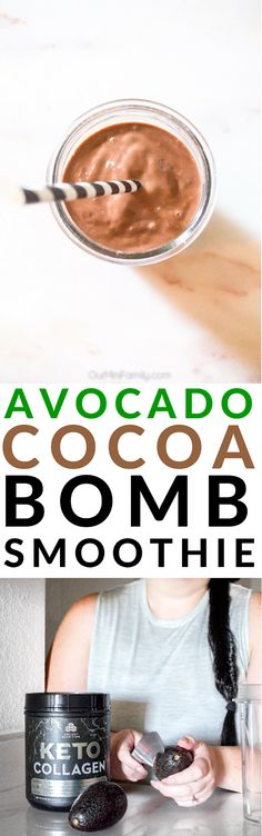 A smoothie recipe that is ideal for those who are also on a ketogenic diet like we are. This avocado cocoa bomb smoothie is packed with good fats and is lower in carbs than traditional smoothies. ad
