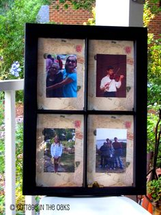 Turning an old window into a frame #diy