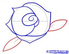 how to draw a simple rose  http://www.dragoart.com/tuts/7279/1/1/how-to-draw-a-rose-for-kids.htm