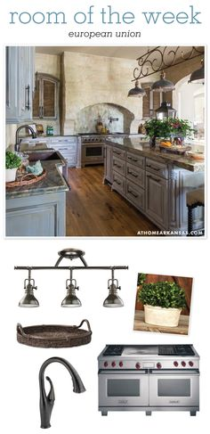 At Home in Arkansas blog | Room of the Week: European Union #kitchen #oldworld @monathompson