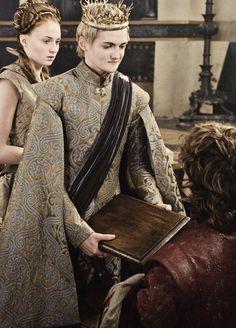 Sansa Stark, Joffrey and Tyrion Game of Thrones Tyrion And Sansa, Sansa Stark, Cersei Lannister, Jack Gleeson, King Joffrey, Michelle Fairley, Hbo Tv Series, King's Landing, Hbo Game Of Thrones