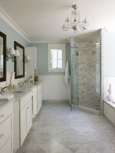 It's all about the details! Don't forget to budget for a frameless shower door and lighting to help drive home the style if your new bath!
