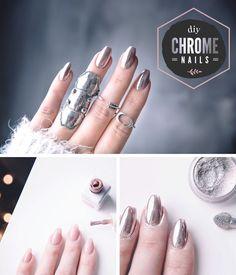 Chrome Nails Tutorial - DIY: Chromenaglar