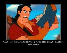 Gaston Reads Beauty and the Beast Script by RyanDunn1977.deviantart.com on @deviantART