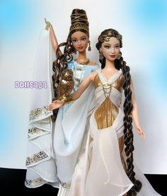 Goddess of Wisdom and Goddess of Beauty  Barbie Dolls 2000