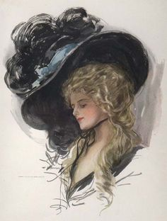 A 20th century (c. 1909) variation on the fabulous Gainsborough Hat (also known as the Picture Hat).