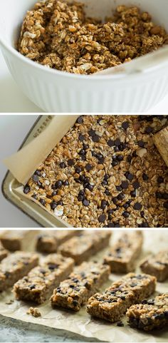No Bake Almond Joy Granola Bars - vegan, gluten-free, and just 5-6 grams of sugar per bar!