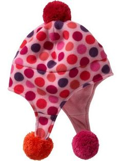 Pink and orange girls hat from Gap.