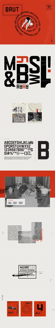 Brut Gothic is a sans serif typeface created by Jacob Rabinowitz that is designed for headlines and captions. It is inspired by the chiseled street signage of a bygone era, with derivations from technical field drawing and Russian constructivism. Top Free Fonts, Best Free Fonts, Free Typeface, Sans Serif Typeface, Free Fonts For Designers, Russian Constructivism, Luxury Font, Behance, Modern Fonts